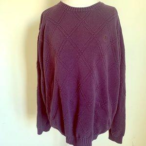 3/$15! IZod purple crew neck sweater